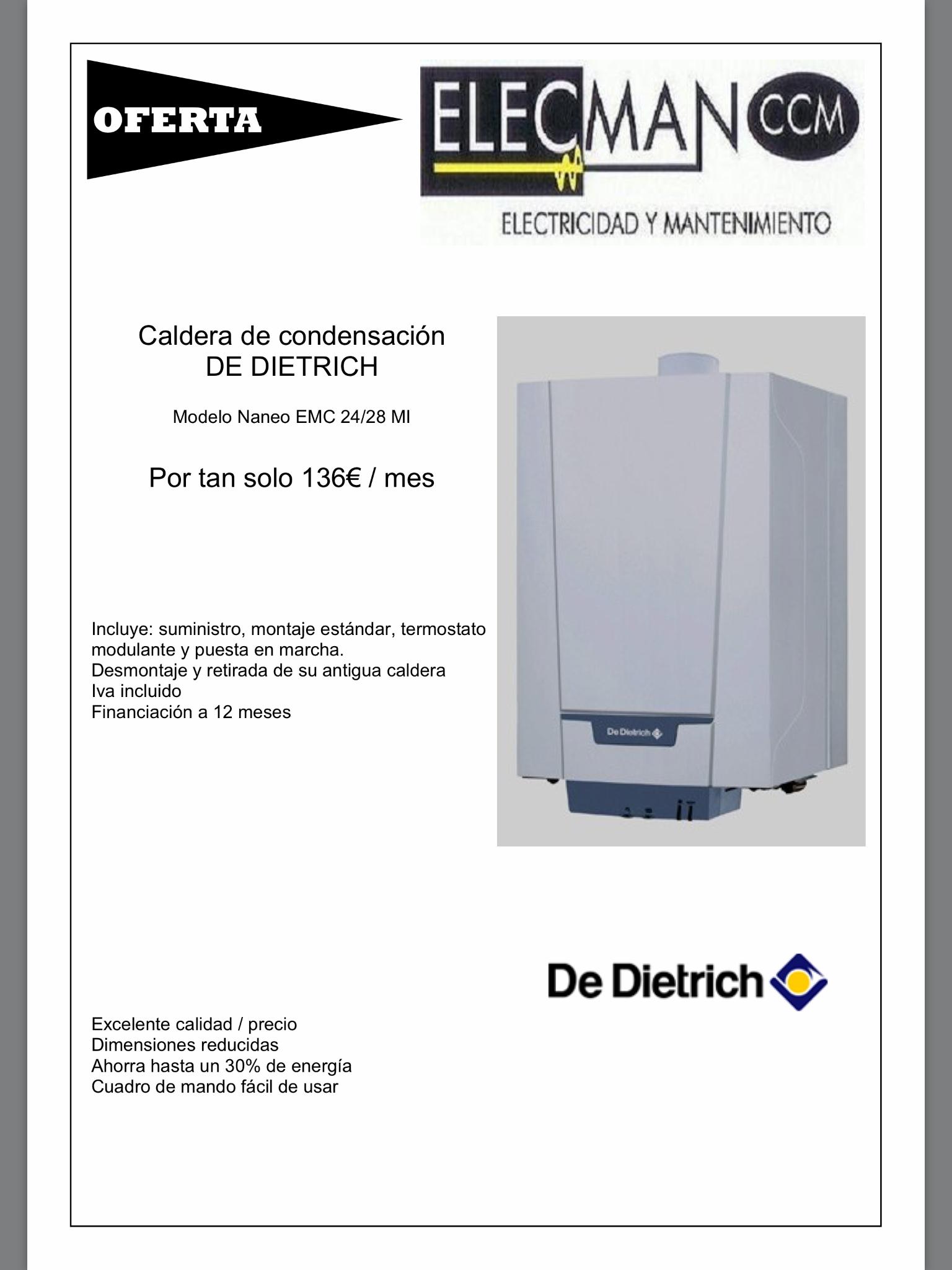Oferta caldera de dietrich elecman ccm - Ofertas calderas de gas ...
